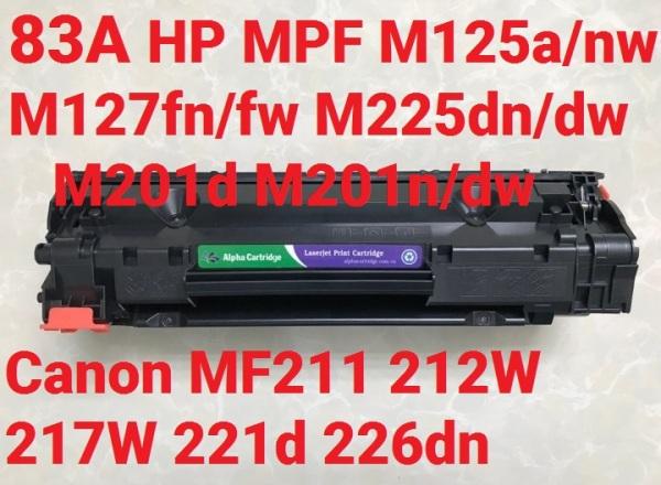 Bảng giá Hộp mực 83A hộp mực máy in  MF211/212w/217W/221/221D/226dn Laser Pro MFP M125/125FW/M127/M127FW/201d/M225dn Phong Vũ