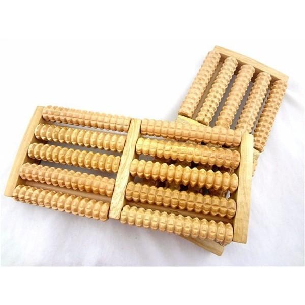Dụng cụ massage chân gỗ 5 thanh