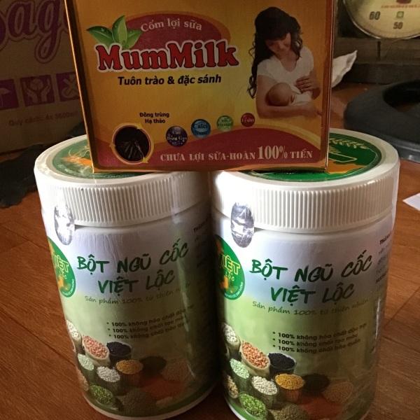 Bột Ngũ Cốc kết hợp cốm lợi sữa (2 ngũ cốc+1 cốm)
