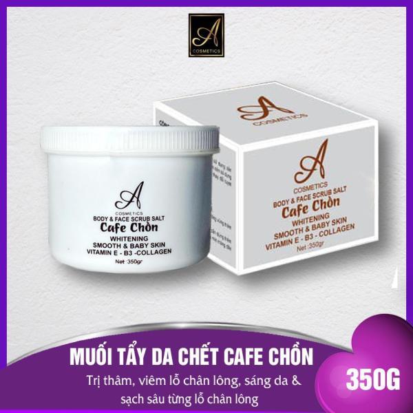 Tẩy Tế Bào Chết MUỐI CAFE CHỒN 2020 - A Cosmetics dùng cho Mặt TOÀN THÂN, Bổ sung Vitamin E - B3 - Collagen Giúp da trắng sáng lấy sạch bụi bẩn- 350G