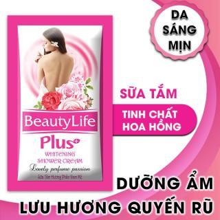 Sữa tắm trắng da dưỡng ẩm tinh chất hoa hồng Beauty Life 10 gói x 5g thumbnail