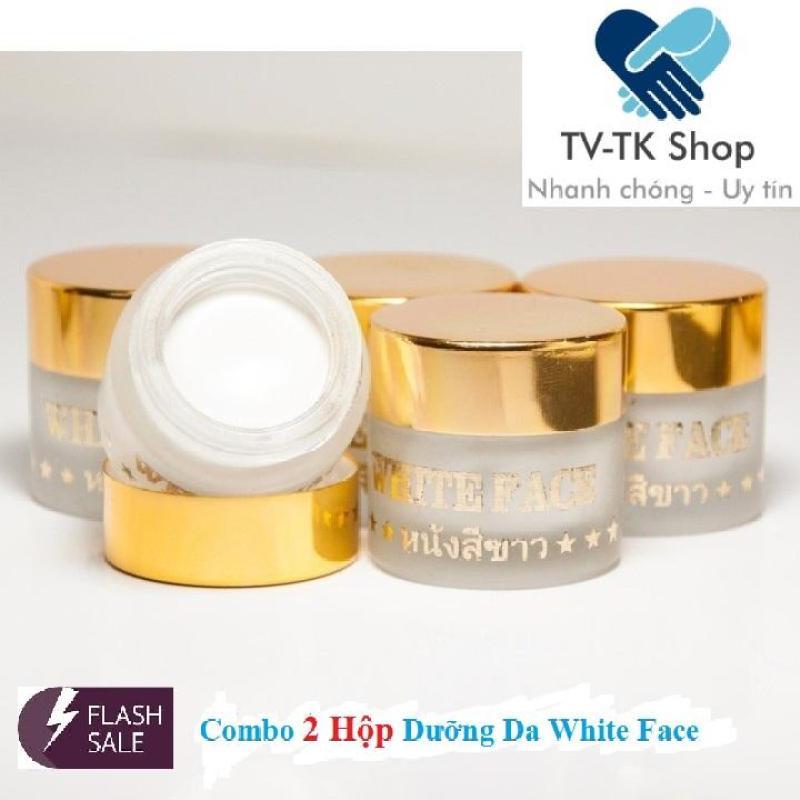 Combo 2 Hộp Kem Dưỡng Siêu Trắng Da Mặt White Face Thái Lan nhập khẩu