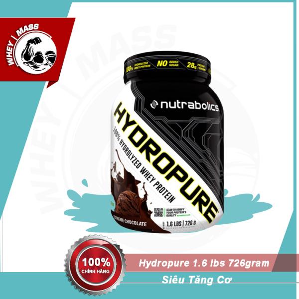 [Kèm Quà] Sữa Bột Tăng Cơ Whey Nutrabolics Hydropure 1.6lbs