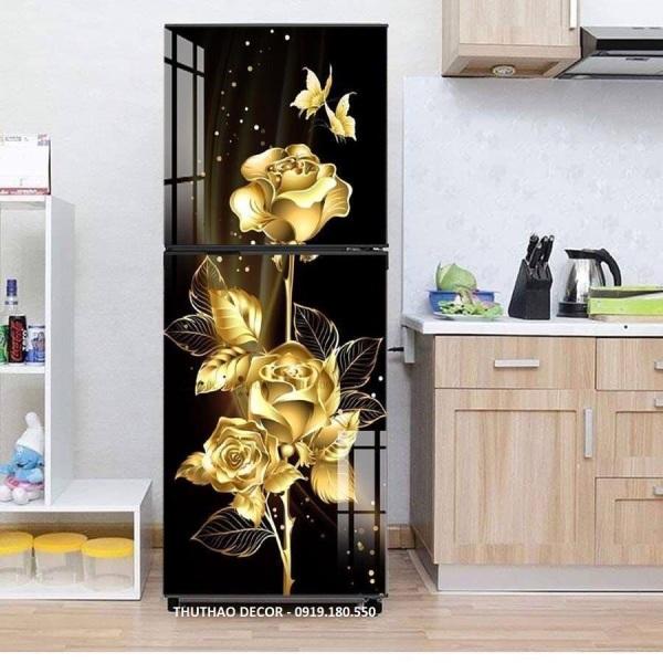 Miếng dán tủ lạnh Hoa Hồng Vàng