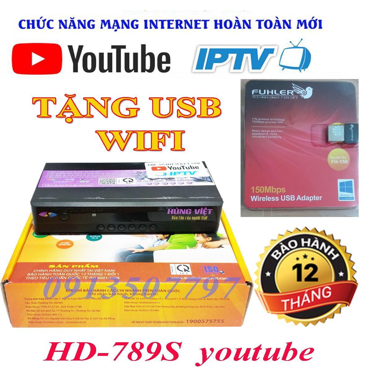 Đầu thu kỹ thuậ số mặt đất HD 789S youtube tặng anten WIFI xem tiv, youtube chất lượng HD