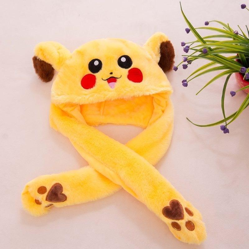 Nón Pikachu giật - cử động 2 tai so cute ( có sẵn)