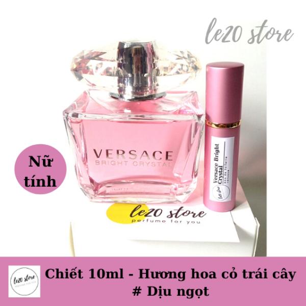 [ Mẫu thử10ml ] Nước hoa nữ Versace Bright Crystal - nuoc hoa versace - nước hoa nữ chính hãng – nước hoa nữ thơm lâu - nuoc hoa Versace hồng10ml – nước hoa nữ  - nuoc hoa nu – nuoc hoa chiet chinh hang