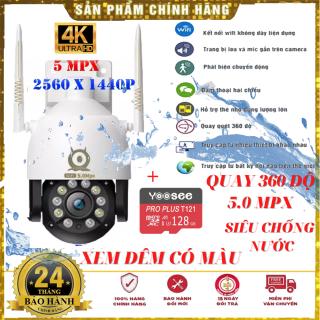 ( TÙY CHỌN TẶNG KÈM THẺ NHỚ 128GB ) Camera ip wifi V380PRO PTZ C12 - 11 led ngoài trời FULLHD 5.0MXP Camera ip wifi V380PRO PTZ C12 XEM ĐÊM CÓ MÀU Camera ip wifi V380PRO PTZ C12 QUAY 360 siêu chống nước BH 24 tháng thumbnail