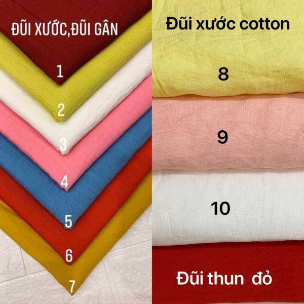 1m và 1,5m vải đũi xước, đũi gân, đũi chun cotton mềm mát may không cần lót