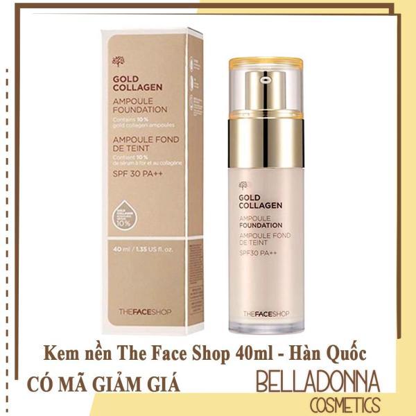 Kem Nền The Face Shop Gold Collagen Ampoule Foundation SPF30 PA++ 40Ml giá rẻ
