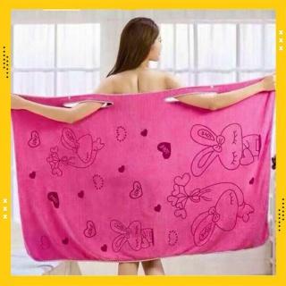 Áo choàng tắm 2 dây 140 70 - Khăn tắm đa năng 2 in 1 thumbnail