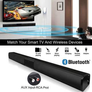 Allh Soundbar HIFI Đôi Trumpet 330Mm Bluetooth 4.0 Di Động Âm Nhạc Máy Nghe Nhạc Soundbar 5W 2 Phổ FM Soundbar 5W 2 Xách Tay FM