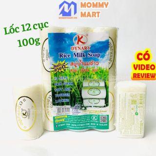 Lốc 12 cục Xà phòng cám gạo Dynary Organic Thái Lan loại cao cấp hoàn toàn tự nhiên tẩy sạch da chết và bụi bẩn ST30a - Mommymart thumbnail