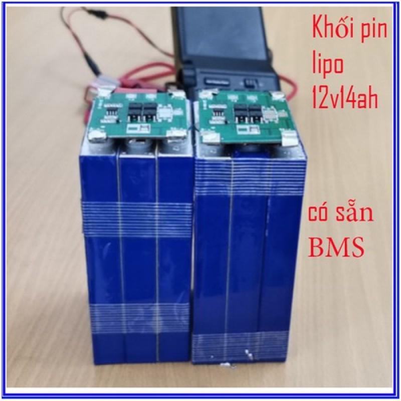 Pin xe điện Khối pin Lipo 12v 14ah mới + có BMS 3s12a - lipo 12v   Pin xe điện Khối pin Lipo 12v 14ah mới + có BMS 3s12a - lipo 12v   Pin xe điện Khối pin Lipo 12v 14ah mới + có BMS 3s12a - lipo 12v