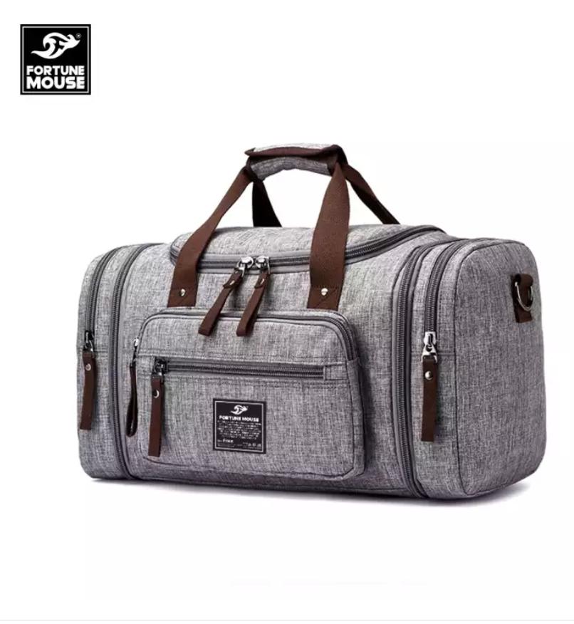 [TOP BÁN CHẠY] Túi xách du lịch cỡ đại vải bố vân xước Fortune Mouse 8642 có thể mở rộng thêm 2 bên hông kích thước 50x29x25cm
