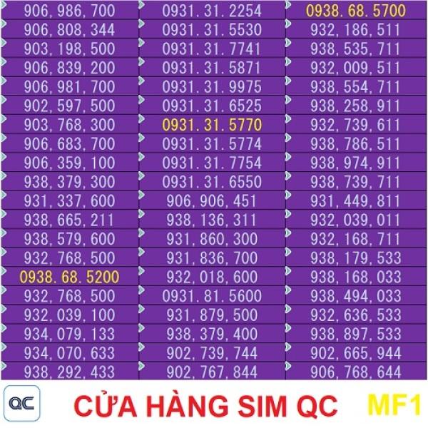Sim mobifone 09 dễ nhớ khuyến mãi 1000 phút mobi 40 phút liên mạng 5GB-09mf