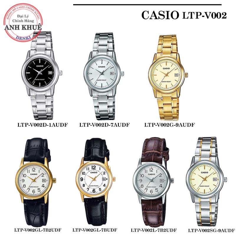 ❤️ 𝐅𝐑𝐄𝐄𝐒𝐇𝐈𝐏 ❤️ Đồng hồ nữ Casio LTP-V002, LTP-V002G LTP-V002D LTP-V002L LTP-V002GL đồng hồ nữ chính hãng Anh Khuê