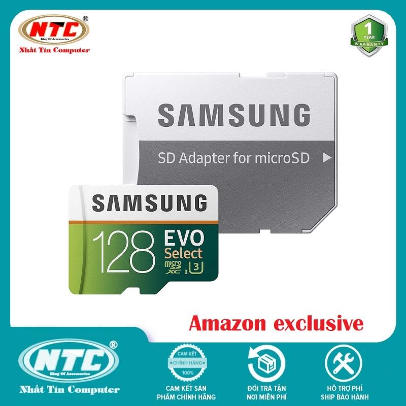 Thẻ nhớ MicroSDXC Samsung Evo Select 128GB U3 4K 100MB/s kèm Adapter (Xanh) - Không Box - Nhất Tín Computer