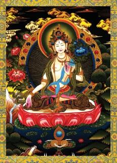 tranh phật đức Phật Bản Tôn Hộ Mệnh kèm khung thumbnail