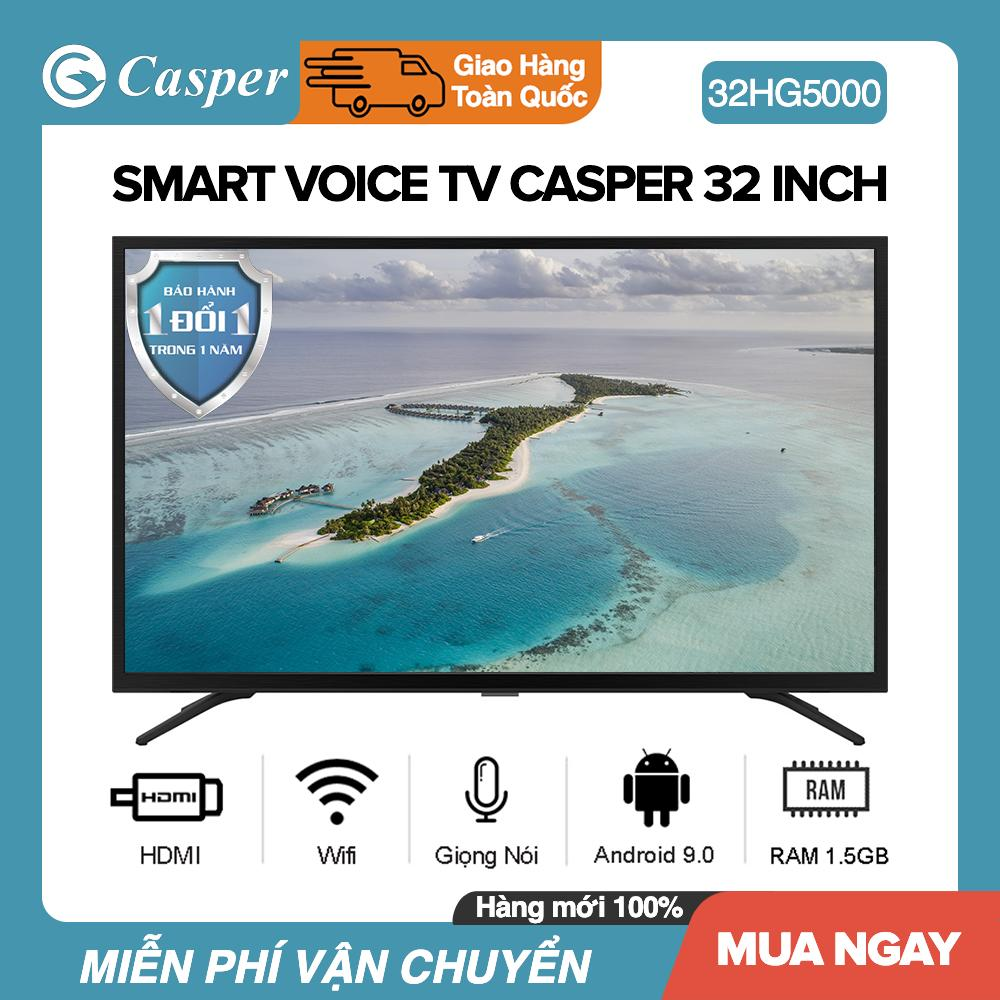 Bảng giá Smart Voice Tivi Casper 32 inch Kết nối Internet Wifi 32HG5000 (Android 9.0, Bluetooth, Điều khiển giọng nói, Nhập khẩu Thái Lan) - Bảo Hành 2 Năm Điện máy Pico