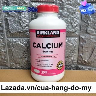 Viên Uống Canxi Kirkland chắc xương Calcium Kirkland 600mg + D3 500 Viên của Mỹ (Mẫu Mới) thumbnail