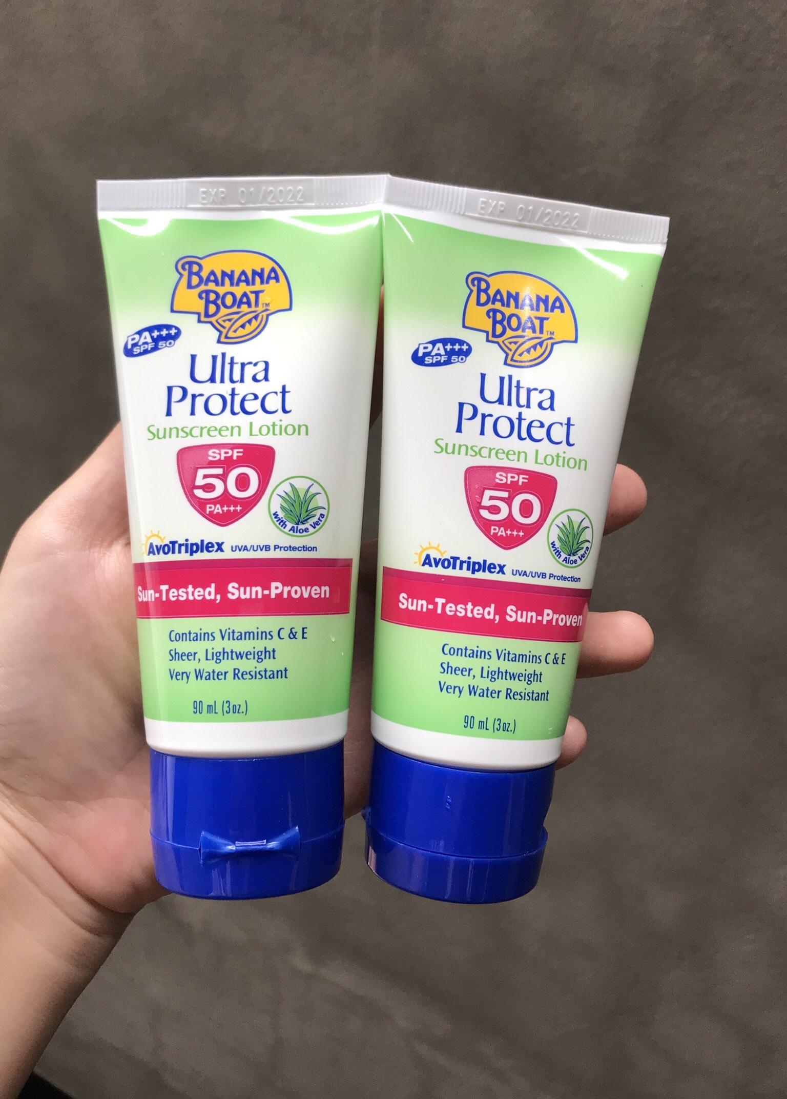 Kem Chống Nắng Banana Boat Ultra Protect Sunscreen Lotion có chứa nha đam và Vitamins C & E cao cấp