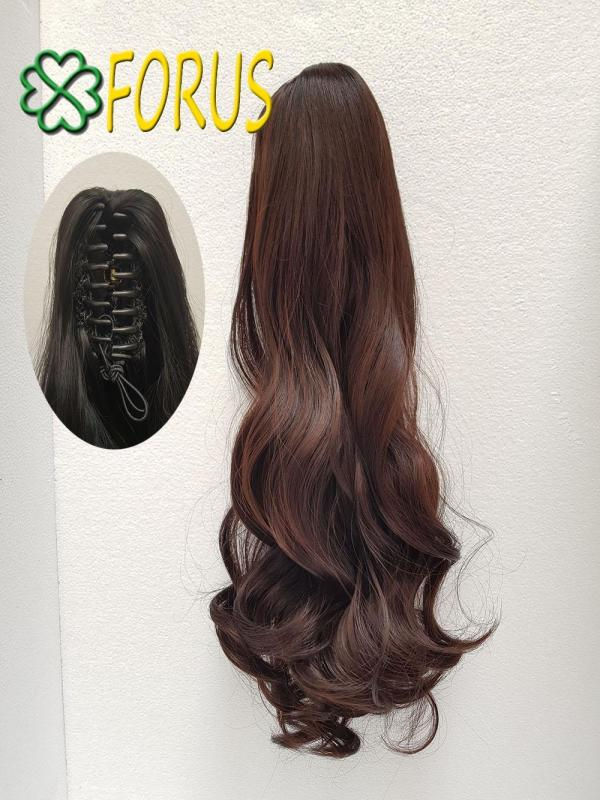 Tóc giả ngoạm kẹp N149 dài 53-55cm, màu [nâu đỏ 2/33] nhập khẩu
