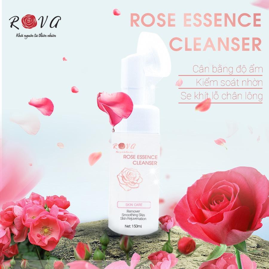 Sữa rửa mặt tinh chất hoa hồng Rova làm trắng da tốt nhất