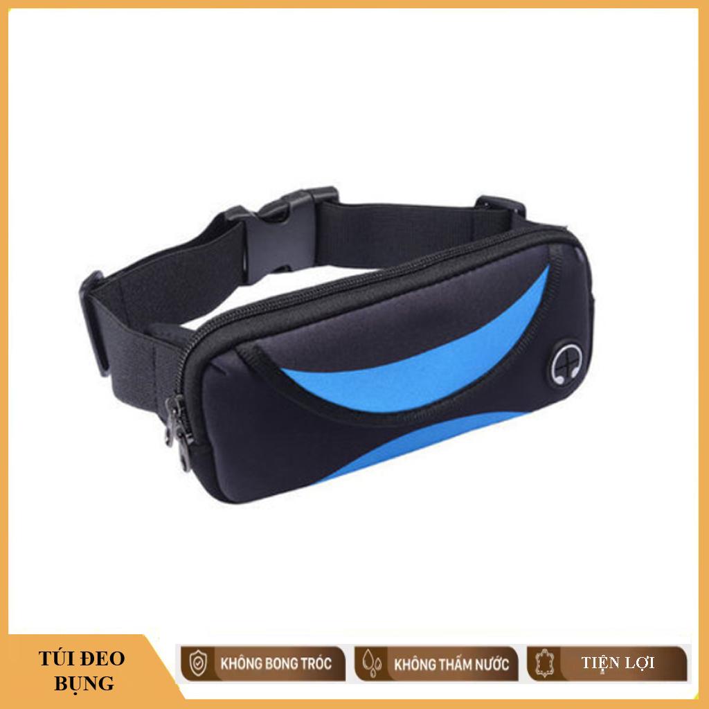 Túi đeo bụng khi tập thể thao chạy bộ Nam Nữ, Kiểu túi đựng được điện thoại máy nghe nhạc, chìa khóa xe khóa nhà tiện dụng
