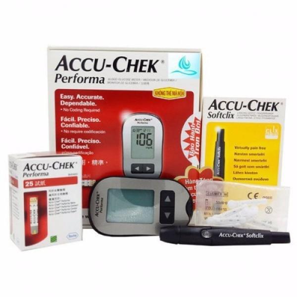 Nơi bán Máy đo đường huyết Accu-chek performa Mỹ, cam kết hàng đúng mô tả, sản xuất theo công nghệ hiện đại, an toàn cho người sử dụng