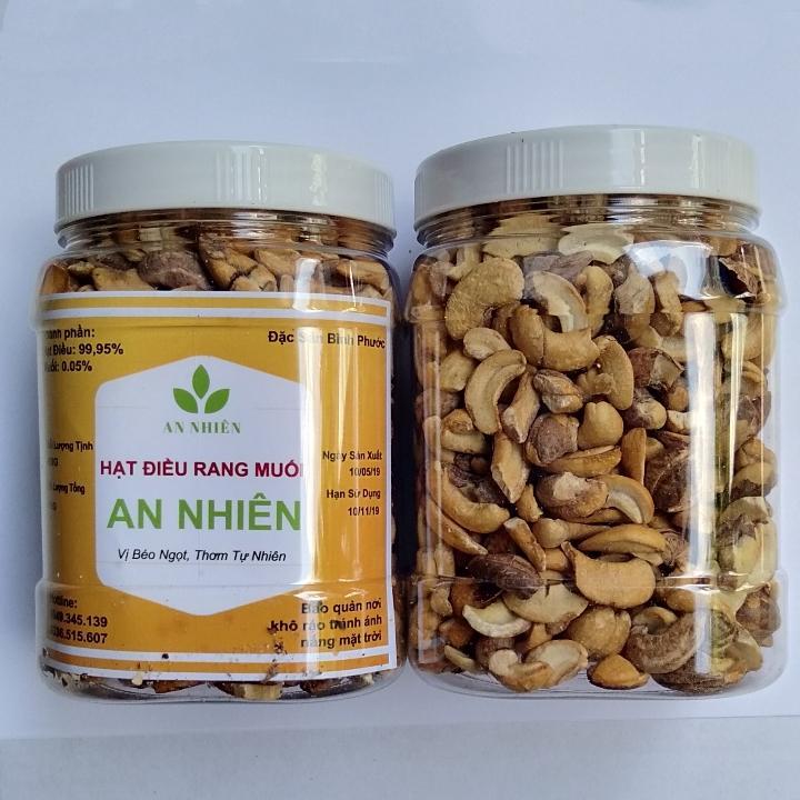 1kg hạt điều rang muối loại vỡ ( 2 hộp 500g)