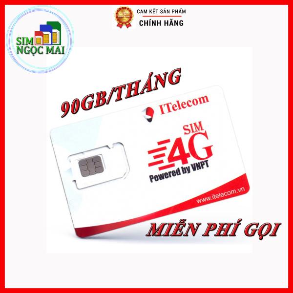 Giá SIM 4G Vinaphone Indo -Telecom gói MAY tặng 90GB DATA Chỉ 77K/Tháng