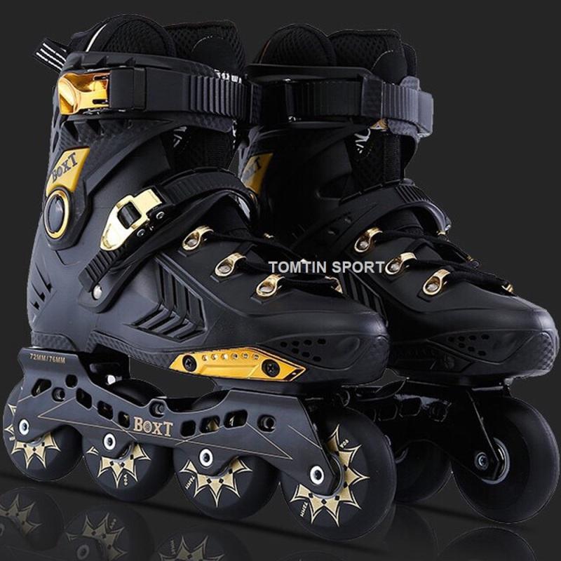 Phân phối Giày Trượt Patin Người Lớn có size từ 38-44, màu đen vàng sang trọng, Quà Tặng Sinh Nhật [TOMTIN SPORT]