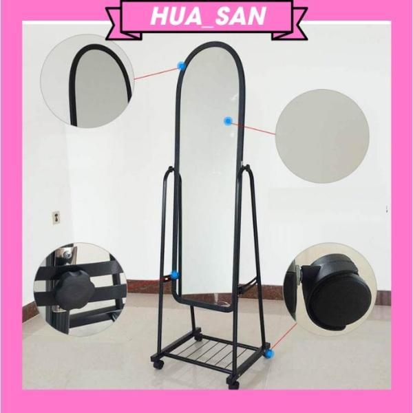 Gương soi di động toàn thân giá rẻ, hỗ trợ lắp đặt, cứng cáp, hàng Việt Nam xuât khẩu cao cấp khung thép không rỉ giá rẻ