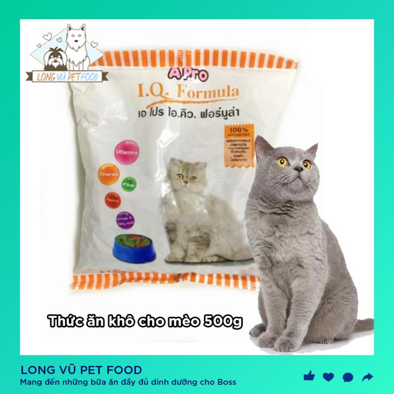 Thức Ăn Hạt Khô Cho Mèo APro IQ Formula 500g