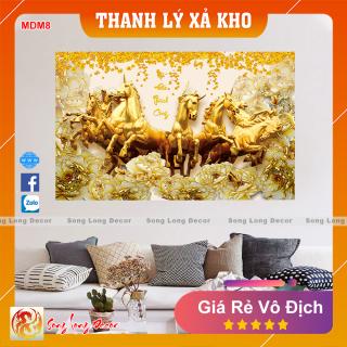 Tranh Dán Tường 3D Mã Đáo Thành Công - MDM8 - Tranh 3D Phong Thủy - Giấy dán tường 3d - Song Long Decor thumbnail