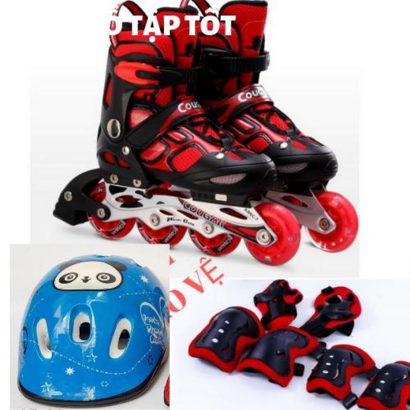 Phân phối Giày trượt patin Cougar 835LSG - có đèn Tặng bộ bảo hộ (Mũ Gối, khuỷu, tay).