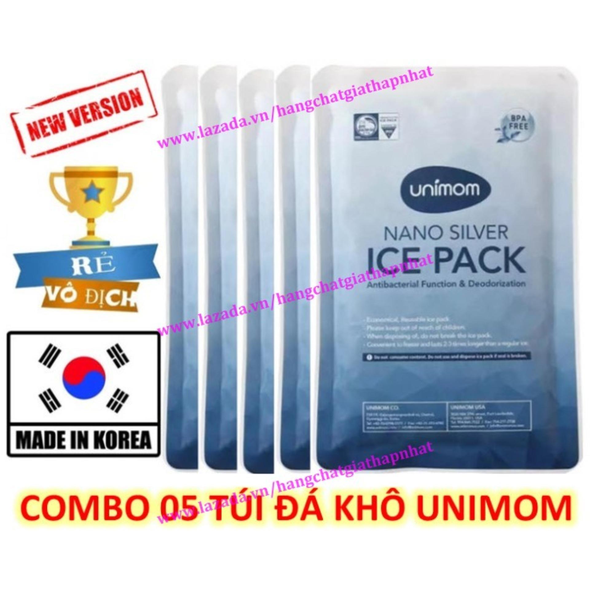 Offer Ưu Đãi (Mẫu Mới) Bộ 5 Bịch đá Khô Diệt Khuẩn UNIMOM UM860136 (Hàn Quốc)