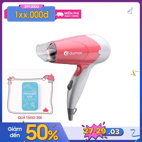 [XẢ HÀNG NGHỈ BÁN] Máy Sấy Tóc Cao Cấp Damas JT3377 - Hàng Chính Hãng - Thiết kế nhỏ gọn, tay cầm gấp gọn - Công suất lớn - Chế độ bảo vệ nguồn khi quá nhiệt - Công thức giữ ẩm và phục hồi tóc - UniMart