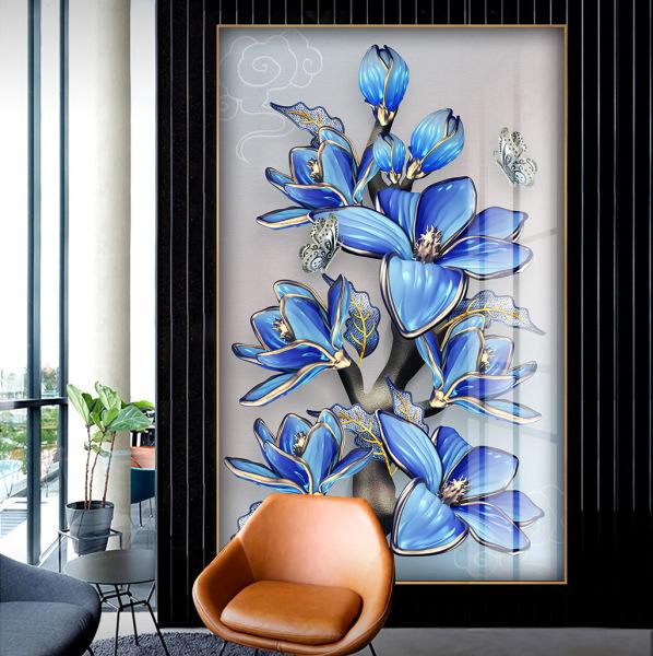 Tranh treo tường hoa ngọc lan hiện đại in trên canvas có khung, trang trí phòng khách, phòng ngủ (#10529667)
