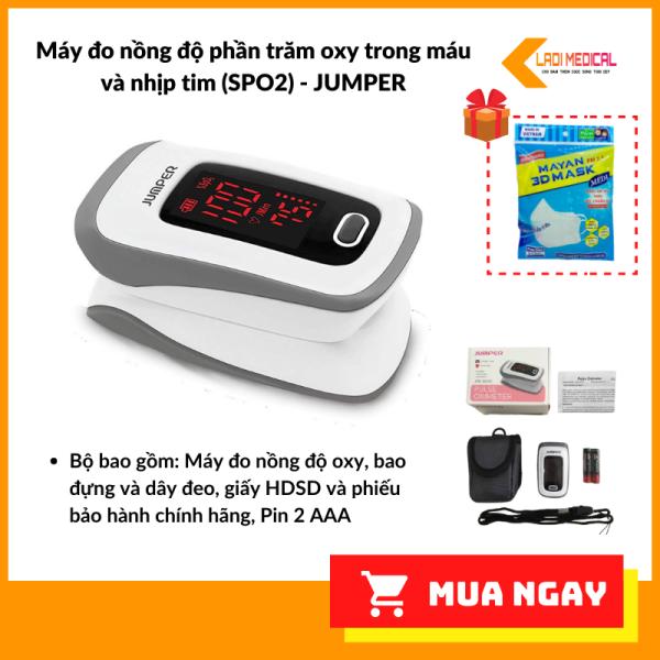 Nơi bán Máy đo nồng độ oxy trong máu SpO2 và nhịp tim Jumper Medical JPD-500E