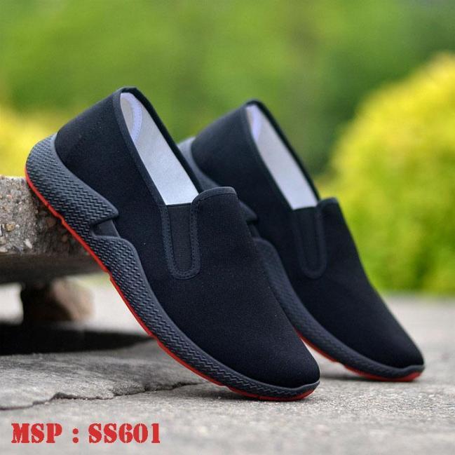 Giày lười nam giày lười phong cách thể thao đẹp SS6001 Chất vải thô thoáng mát Lên chân nhẹ nhàng, năng động giá rẻ