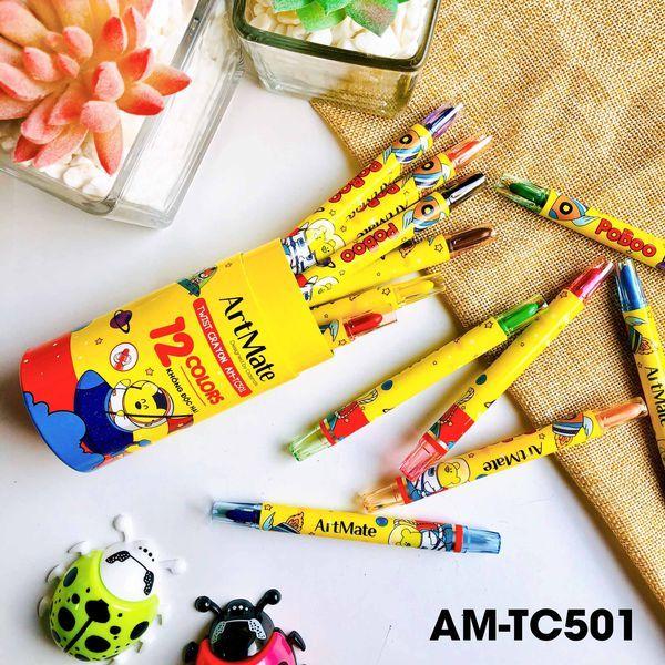 Mua Bút sáp vặn ống 12 màu AM-TC501