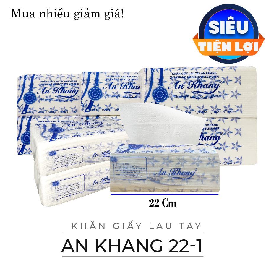 Mã Khuyến Mãi [Combo 10 Gói - 100 Tờ/gói] Khăn Giấy Rút / Khăn Giấy Lau Tay An Khang 22cm