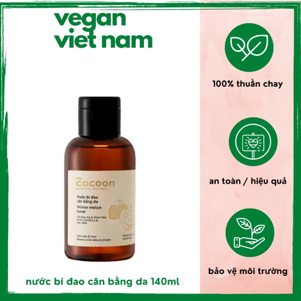 [HCM]Nước bí đao cân bằng da ngăn ngừa mụn kiểu soát dầu giảm vết đỏ làm sạch da (Winter melon toner) Cocoon Viet Nam 140ml