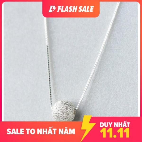 Dây chuyền | dây chuyền nữ | vòng cổ bạc| dây chuyền bạc | vòng cổ bạc nữ hạt bi tròn trắng DB1583 - bảo ngọc jewelry - antamshoptainha