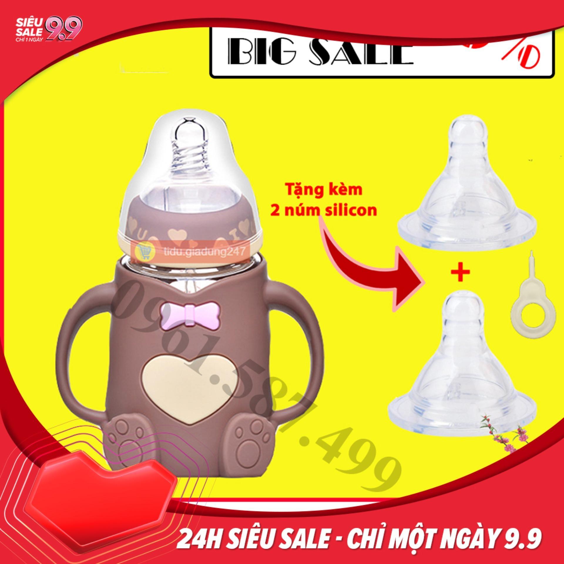 Bình sữa cho bé hình gấu - bình sữa, bình...
