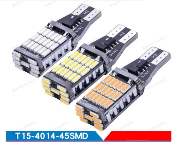 Bóng đèn LED T15 4014 45SMD Canbus 12V (đèn phanh, đèn báo rẽ) (Giá 1 bóng)
