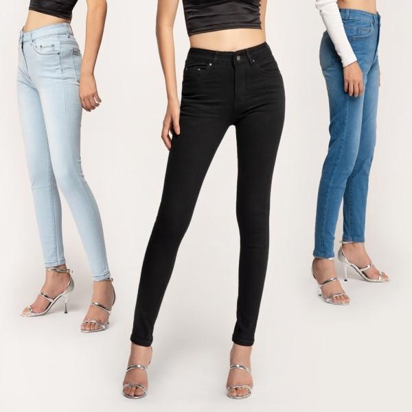 Quần Jean Nữ Lưng Cao (Quần Bò Nữ Cạp Cao) Dáng Skinny Ôm Thun Giãn Nhiều Màu Đen, Xanh Đậm, Xanh Nhạt, Xám Đủ Size 26 – 32 Aaa Jeans