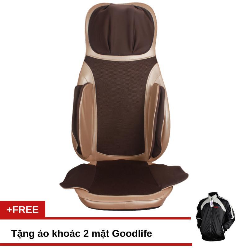 Bảng giá Đệm ghế massage Fuji Luxury MK115 + Tặng áo khoác hai mặt Goodlife